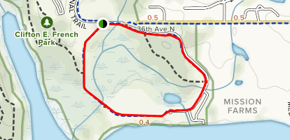 French Beach Loop Map