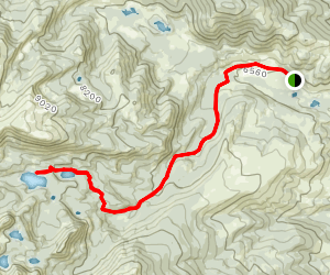 Twin Lakes Trail (FS 6366) Map