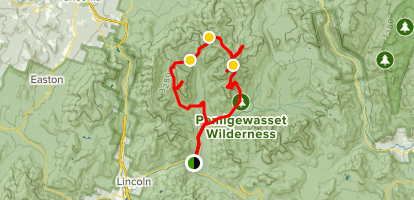 Lincoln Woods Trail to Franconia Brook Trail Loop Map