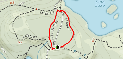 Devil's Outlook and Franny Trail Loop Map