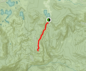 Poin Mariah via Sterlings Canyon and Whitneys Bowl Map