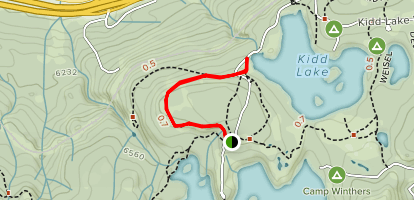 Satellite Trail to Kidd Lake Map
