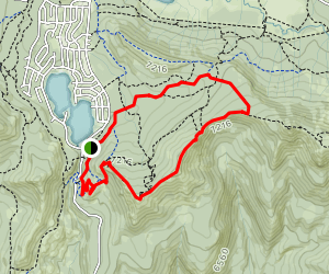 Rowton Peak and Bill and Flora's Point via Claim Jumper, Crow's Nest, Razorback,  Map