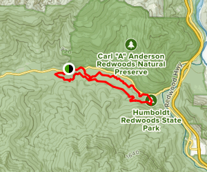 Bull Creek Flats Trail Map