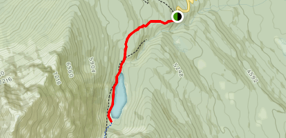 Geraldine Lakes Trail: First Lake  Map
