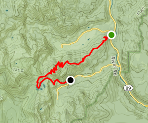 Squaw Valley to 5 Lakes Trail to Alpine Meadows Map