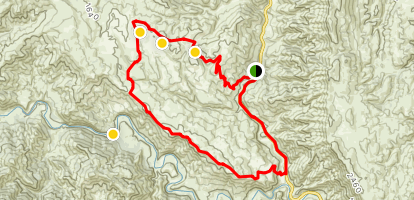 3 Ponds, Brophy Canyon and Cache Creek Ridge Trail Map