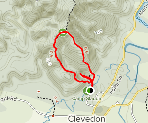 Clevedon Scenic Reserve Track and Thorps Quarry Map