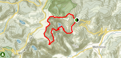 Schiessrothried Lake and Hohneck Summit Circuit Map