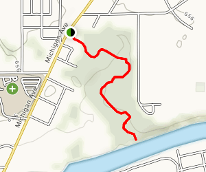 Labryinth Trail to Eel River Map