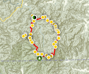 Standing Indian, Mount Albert, Nantahala Basin Loop Map