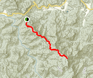 Rock Gap to Big Springs Gap Map