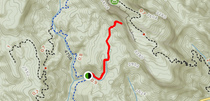 Slick Rock Falls Trail Map