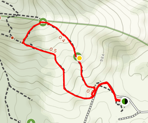 Piedmont Overlook and Northridge Short Loop Map