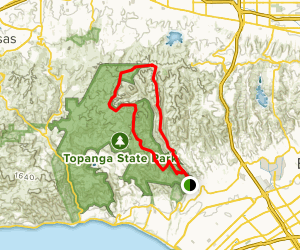 Sullivan Fire Road to Backbone Trail Loop Map