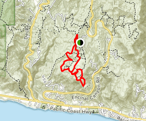 Clyde Canyon Trail to Lower Loop Trail to Charmichael Road Trail Loop Map