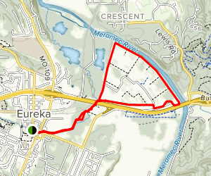 Kircher and Flat Creek Trail to Route 66 State Park Map