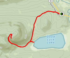 Good Luck Mountain and Lake Trail Map