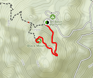Black Mountain Lookout Map