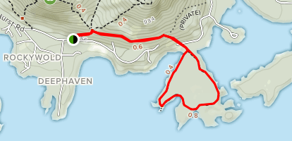 Five Finger Point Trail Map