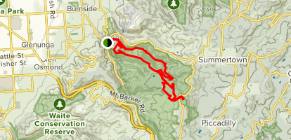 Chambers Gully to Lofty Loop Map