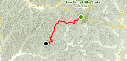 Buckeye Trail - Old Man's Cave Section 21-25 Map