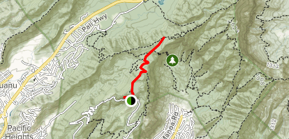 Pauoa Flats Trail Map