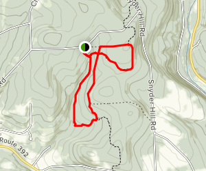 Snyder Hill and Woodchuck Hollow Loop Map