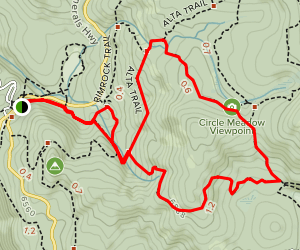 Huckleberry Trail to Alta Trail Loop Map