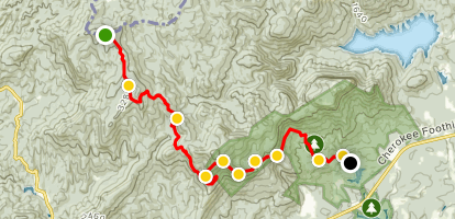 Sassafras Mountain to Pinnacle Lake Map
