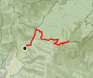 Berry Hollow to Old Rag Mountain Trail Map