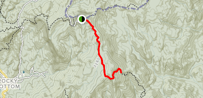 Hickorynut Mountain via Foothills Trail Map