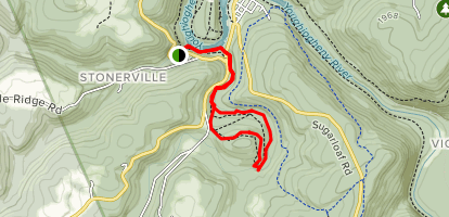 Great Gorge to Meadow Branch Trail Map