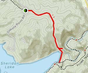 Spring Creek and Sheridan Lake Map