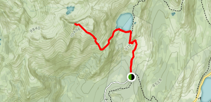 May Lake and Mount Hoffman Map