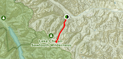 West Oval Lake Trail  Map