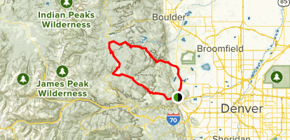 Golden Gate Canyon Loop  Map