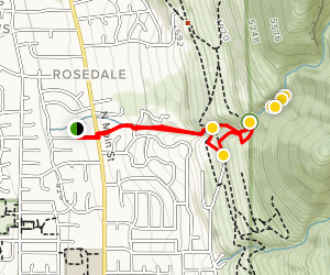 Rick's Creek via Ford Canyon and Ricks Creek Water Fall Trails [PRIVATE PROPERTY] Map