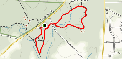 Hallow Rock to Headwaters Loop Map