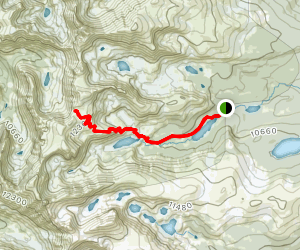 Pawnee Pass Trail Map