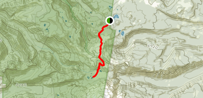 Scout Lake Via Pacific Crest Trail Map