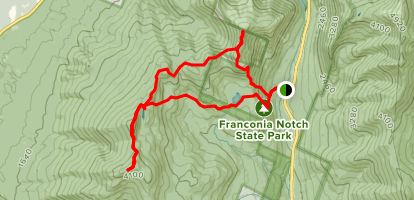 North Kinsman, South Peak and Cannon Balls Loop Trail  Map