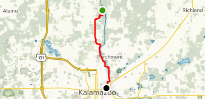 Kalamazoo River Valley Trail via Avenue D Map