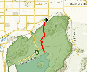 Lake Perris from Avalon Avenue Map