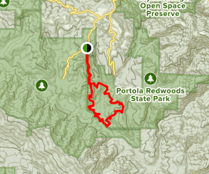 Upper Coyote Ridge, Iverson and Summit Trail Loop  Map