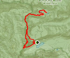 Twin Lakes via Battle Ax Mountain and Bagby Trails Loop Map