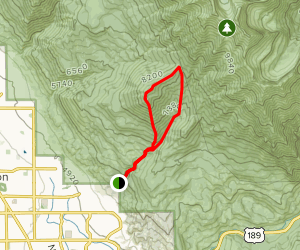 Big Baldy Summit via Dry Canyon Trail Loop Map