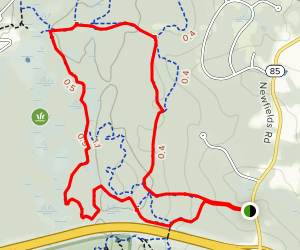 Hillzilla Trail and Red Loop Map