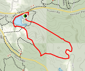 Cross Country Trail from Kendall Lake Map