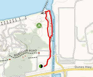 Portage Lake Front River Walk Map